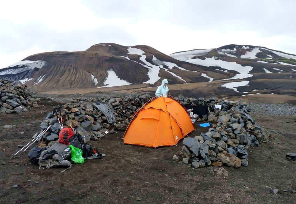daa380edfe572  Camping at  Hrafntinnusker is best for  adventure enthusiasts.  camp   travel  tour  vacation  holiday  iceland