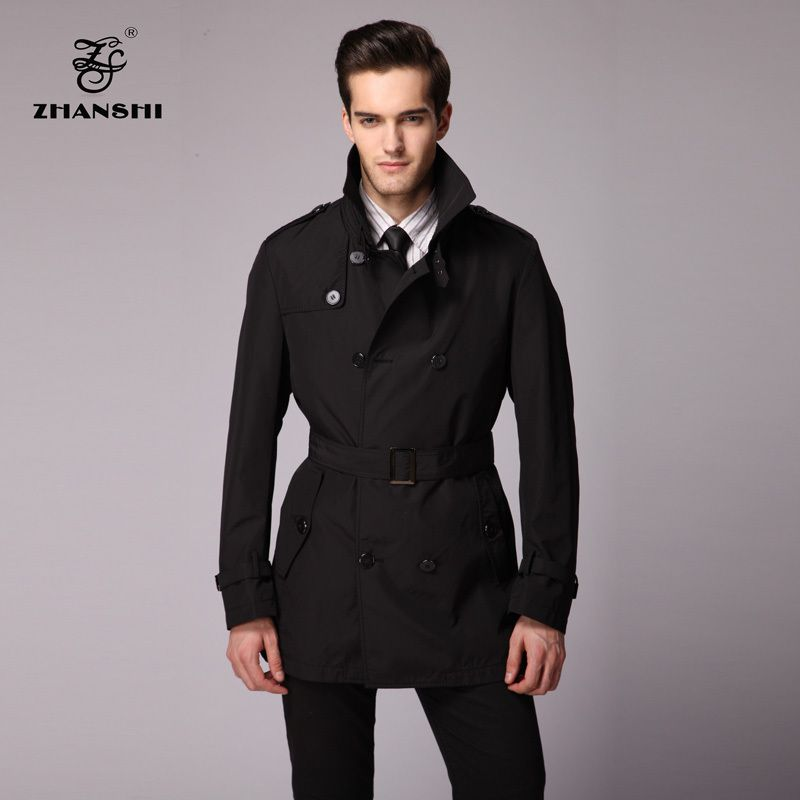 Zhanshi 2016 New Collection High Quality Fashion Men Black Trench ...
