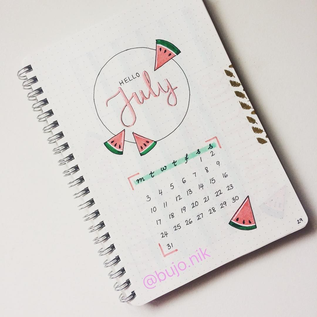 "177 curtidas, 9 comentários - @bujo.nik no Instagram: ""Here is my August cover page! After you guys gave my"