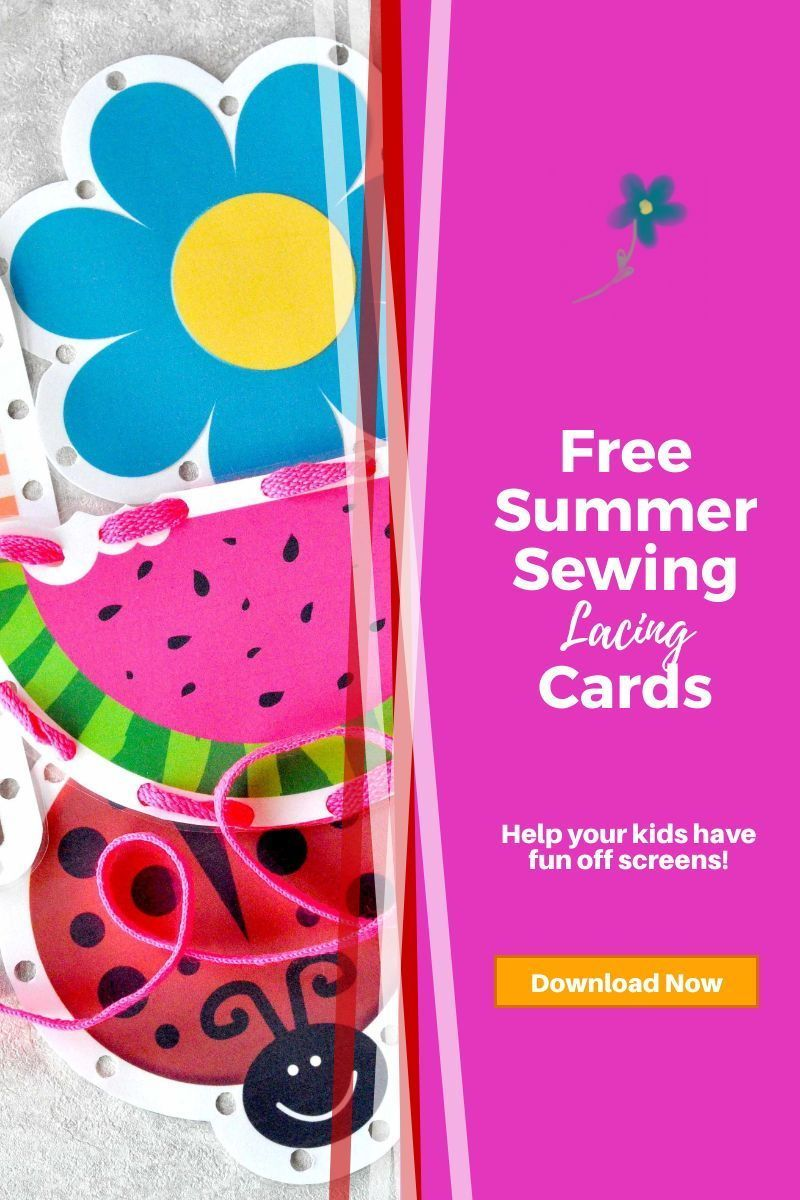 Free sewing cards for your kids or the nursery kids. Get yours now! #forkids #kidcraft #kidproject #freeprintable