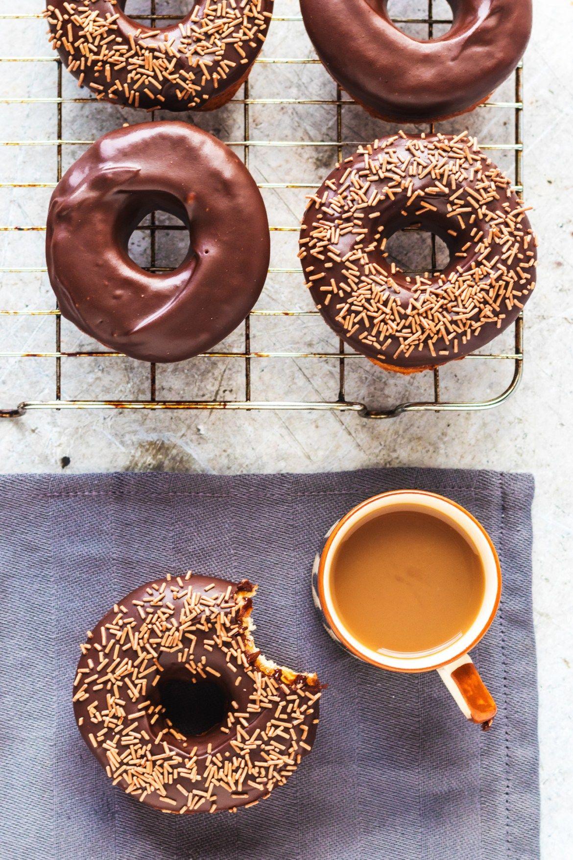 Vegan Chocolate Glazed Donuts This Vibrant World Recipe Chocolate Glazed Donuts Donut Glaze Vegan Donuts