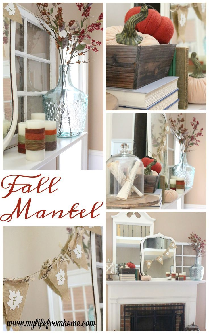 Simple diy room decorations fall mantel decor  decorating your mantel for fall  books  autumn