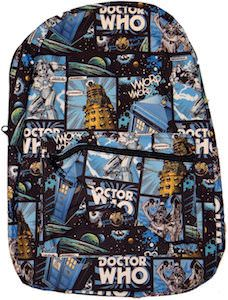 Doctor Who Comic Style Backpack - http://www.godoctorwho.com/doctor-comic-style-backpack/ #DW #DoctorWho