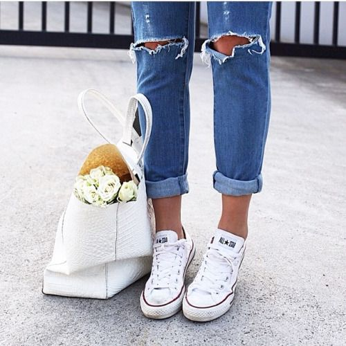Chucks, totes, and flowers — a recipe for the perfect weekend morning.