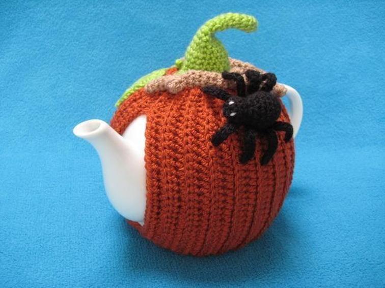 Tea Cosy Pumpkin Halloween Spider Cozy