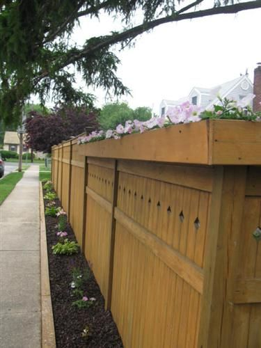 planter box top of privacy fence roberta from merrick new york