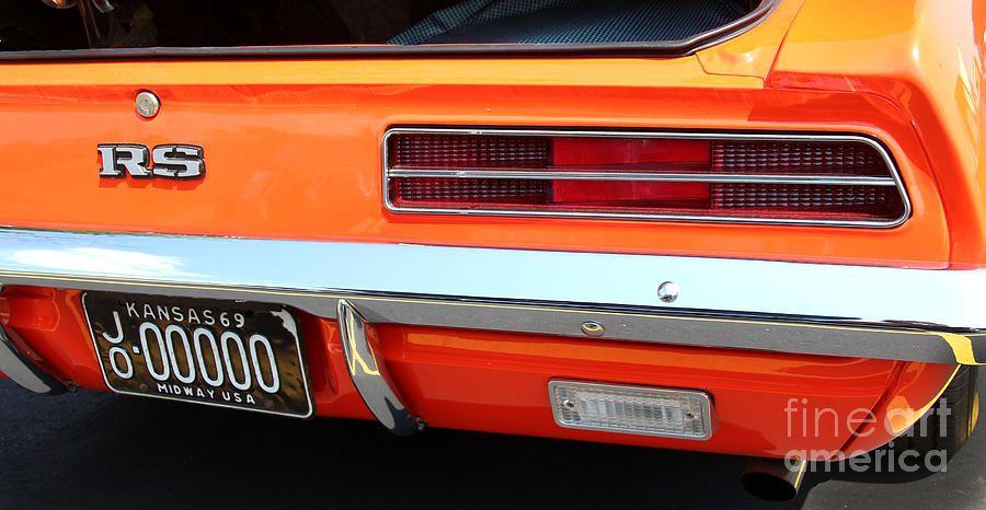 1969 Chevrolet Camaro Rs Orange Rear End 7609 Camaro