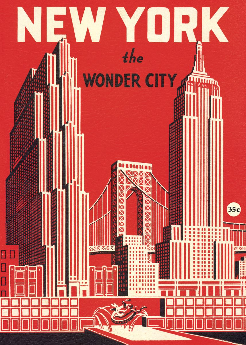 1938 New York The Wonder City Souvenir Photo Book