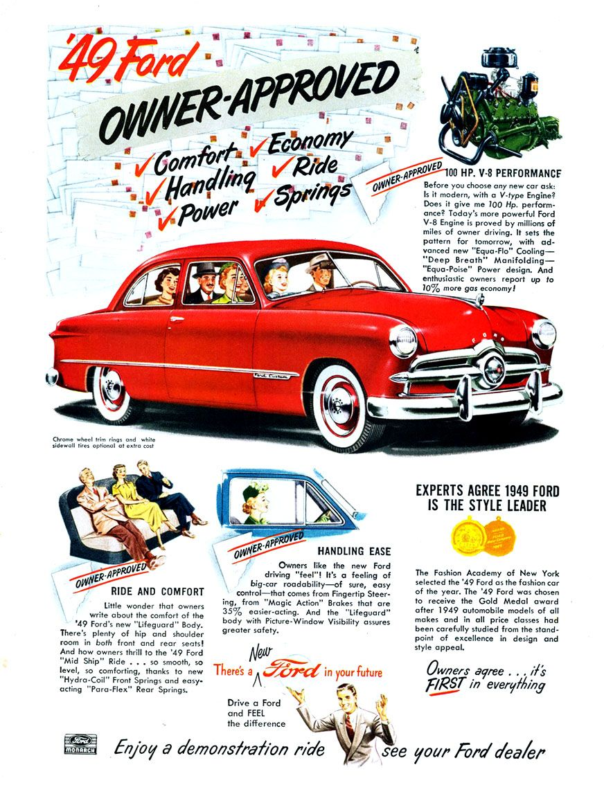 1949 Ford | Ford ..car brochures | Pinterest