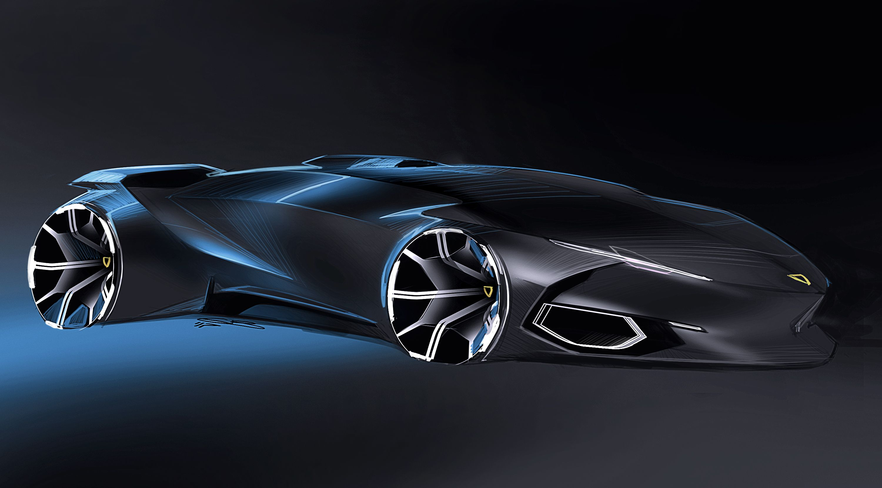 Car design sketches #8 on Behance