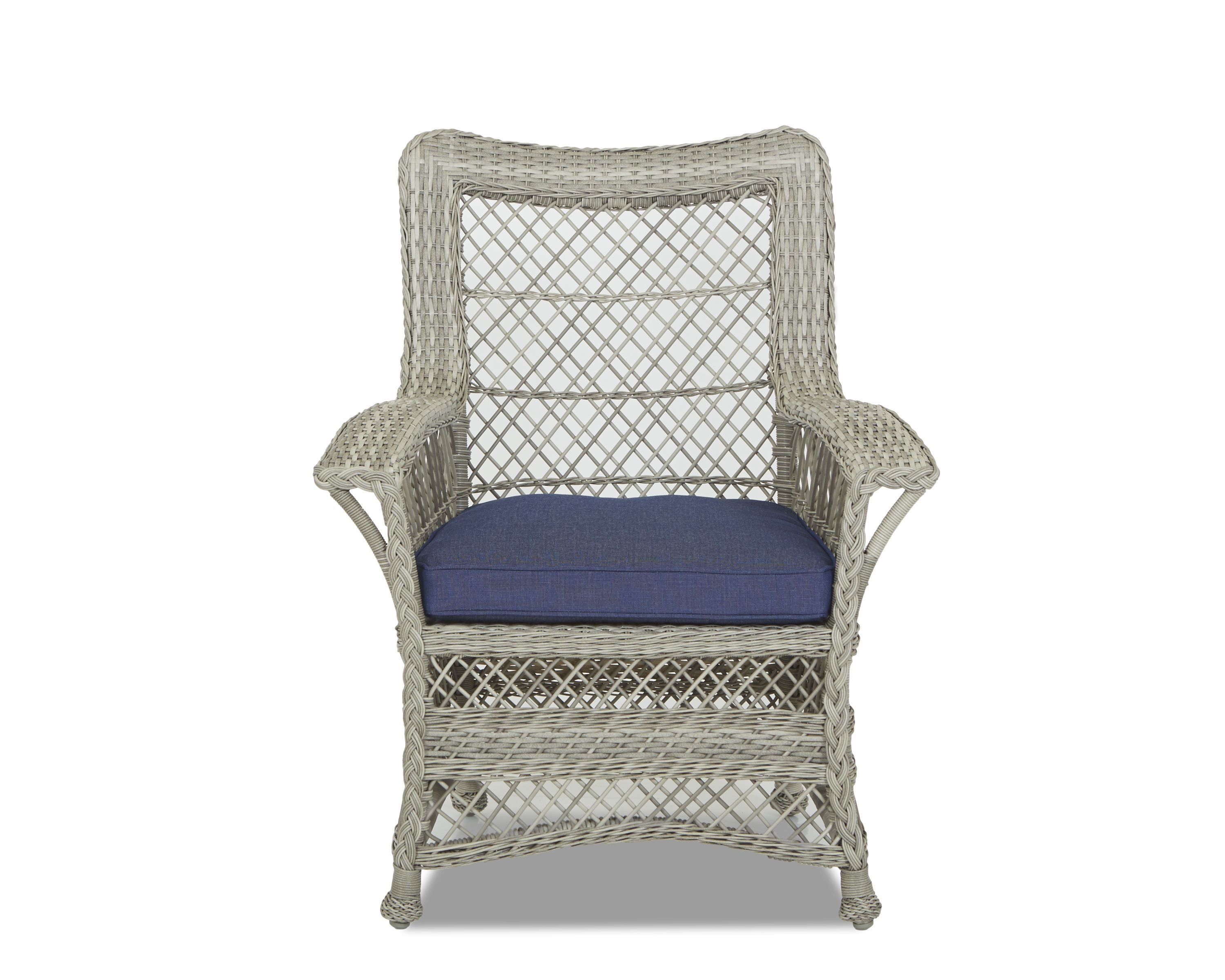 Klaussner Outdoor Outdoor/Patio Willow Dining Chair W1200 DRC - Klaussner Outdoor - Asheboro, NC