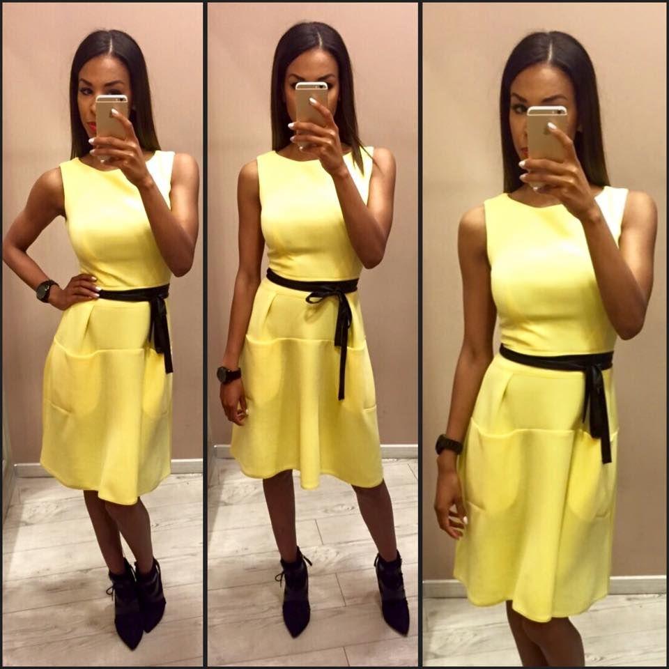 60fcdbebe5 Újabb színekben is elérhető ez a kényelmes és divatos fazon. Envy Fashion -  Corvin sétány Sárga ruha