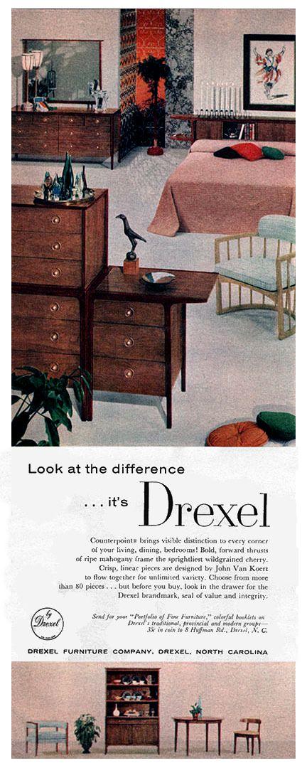 Elegant Drexel 1957 Counterpoint   JOHN VAN KOERT   Better Homes U0026 Gardens May 1957 Design Inspirations