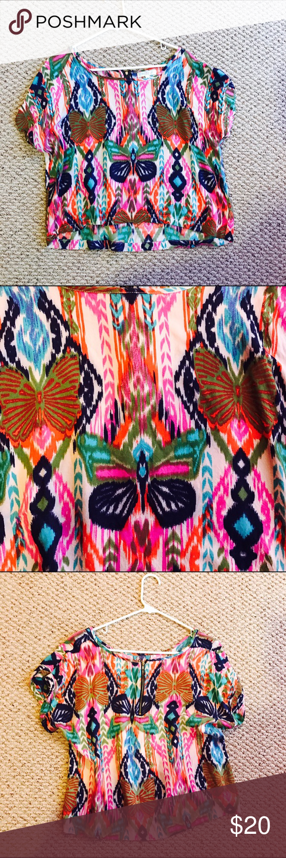 Colorful Blouse NWOT Tops Blouses