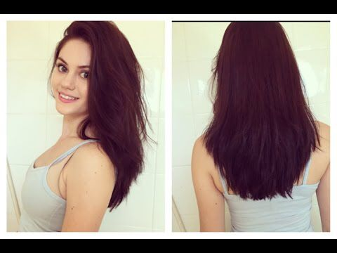 thick armpit length hair