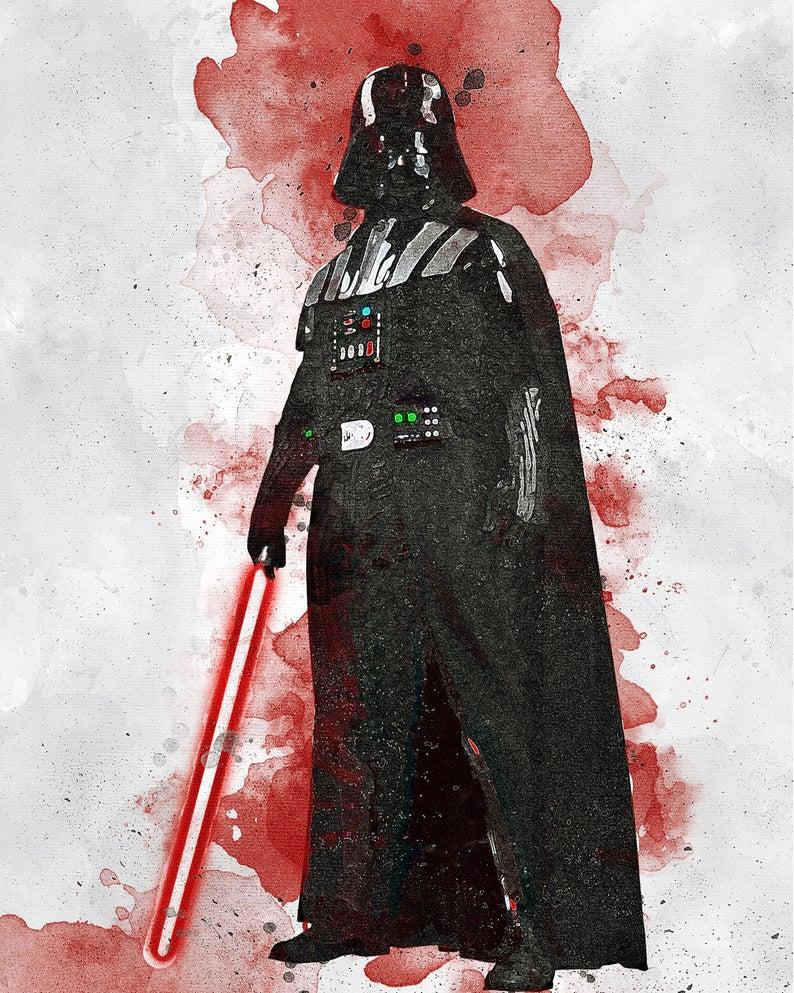 Darth Vader Darth Vader Digital Star Wars Poster Etsy Star Wars Poster Darth Vader Poster Printable Art
