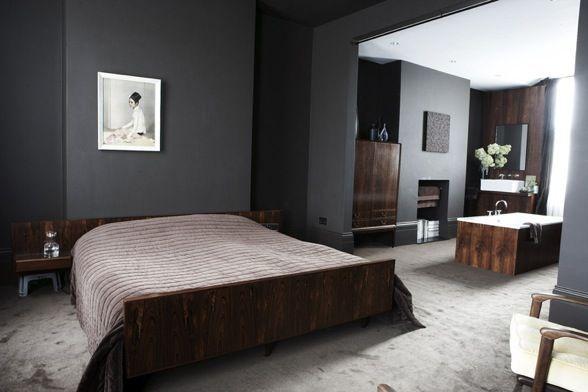 chambre vert fonc recherche google chambre val pinterest chambres vert fonc chambres. Black Bedroom Furniture Sets. Home Design Ideas