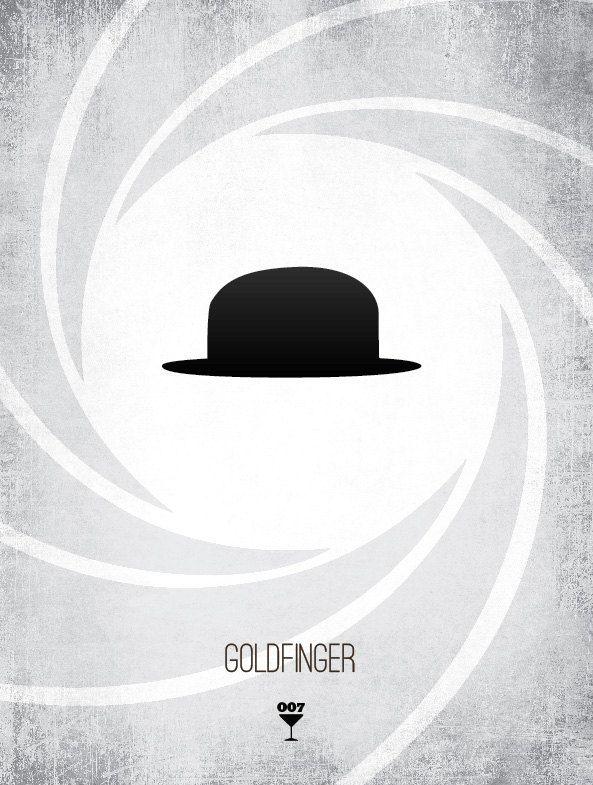 Minimalist Classroom Jobs ~ Bond villains goldfinger minimalist poster james