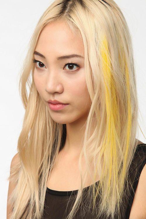 Mustard Yellow Hair Chalk Hair Chalking Pastels Temporary Hair