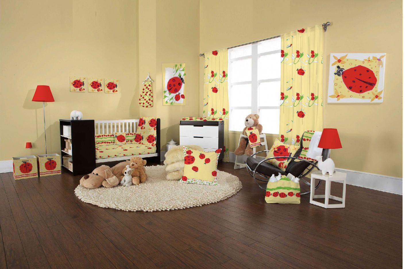 yellow ladybug nursery-room-decorations-unique-nursery ...