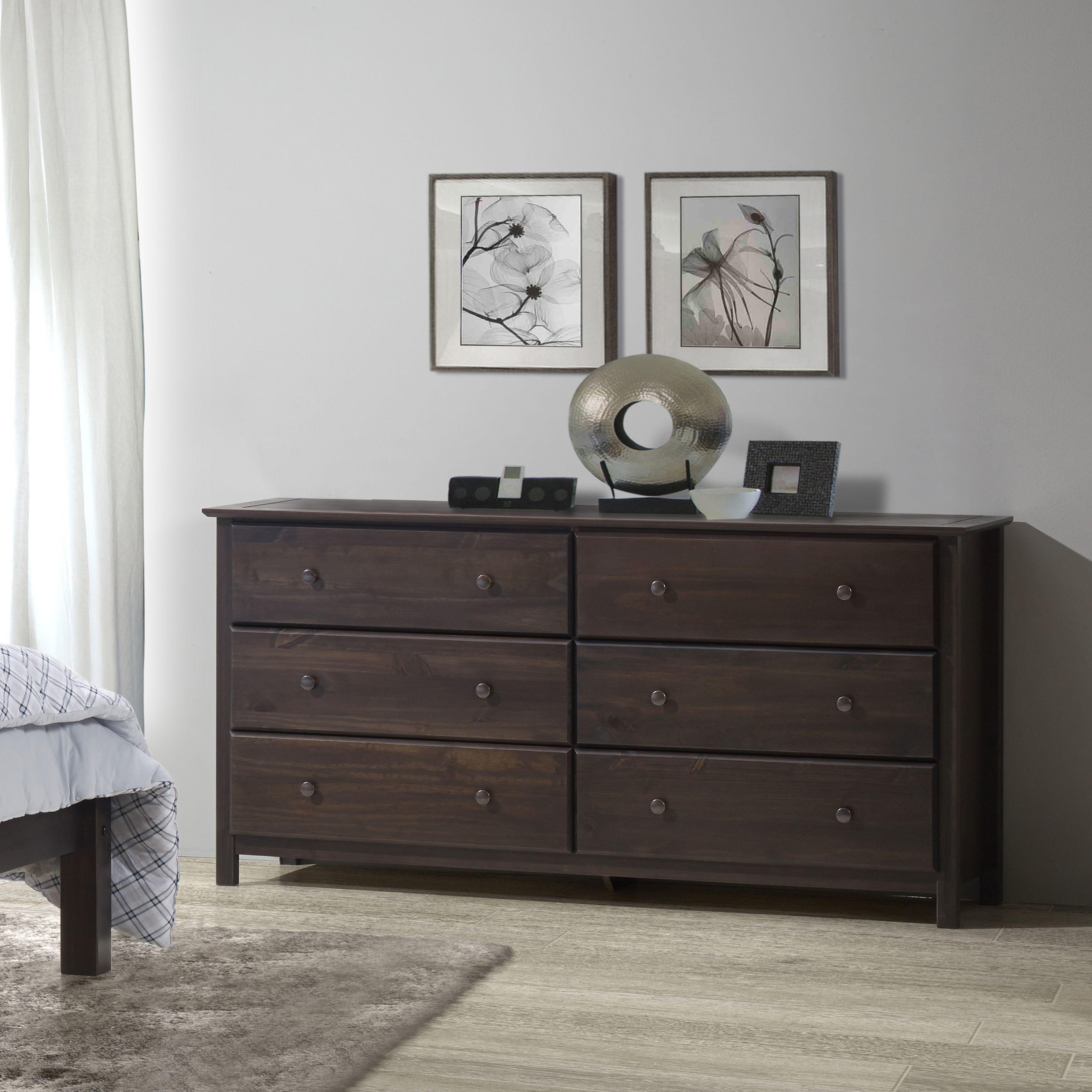 Grain wood furniture espresso finish solid pine shaker drawer
