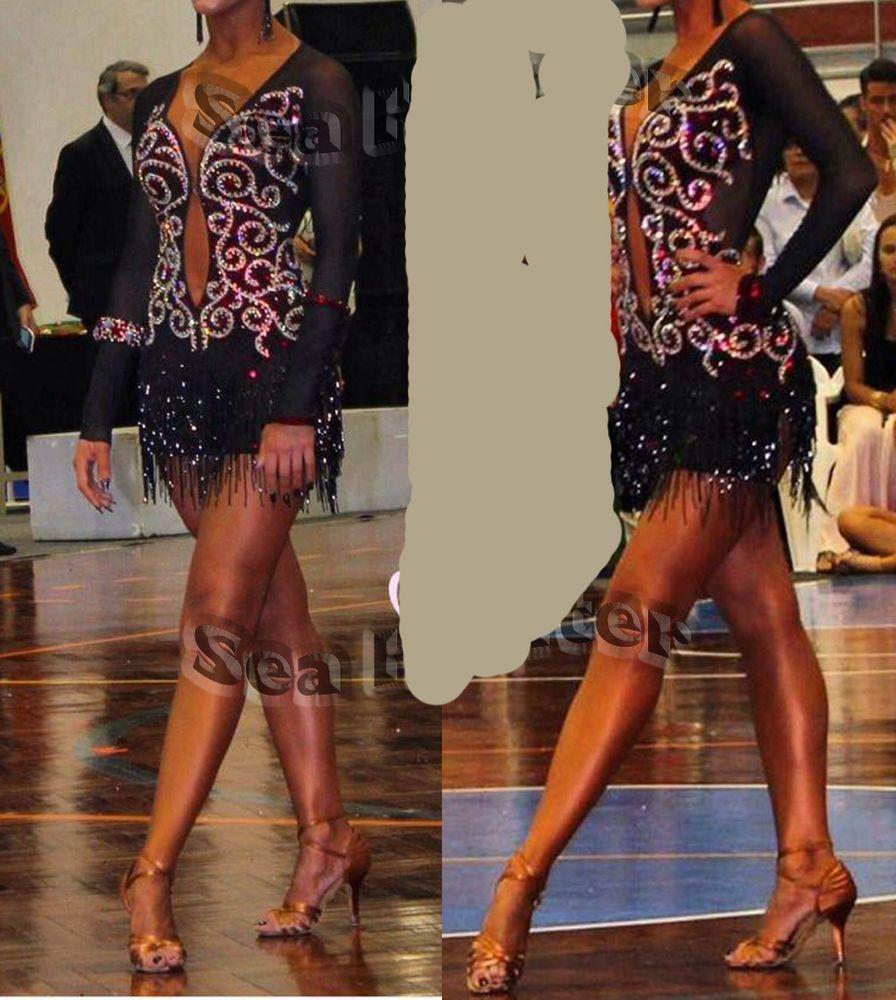 ADULT LATIN RHYTHM SALSA BALLROOM DANCE DRESS COMPETITION CHA CHIA RUMBA SAMBA