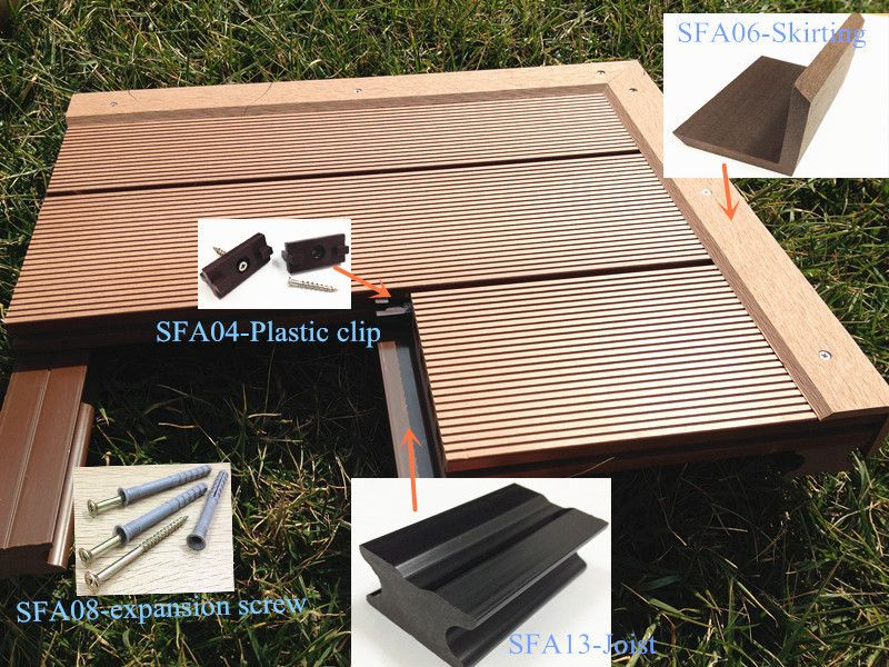 2 X 6 Tongue And Groove Plastic Wood Decking Available In Different Colors Decking Material Plastic Wood Decking Decking Material Plastic Flooring