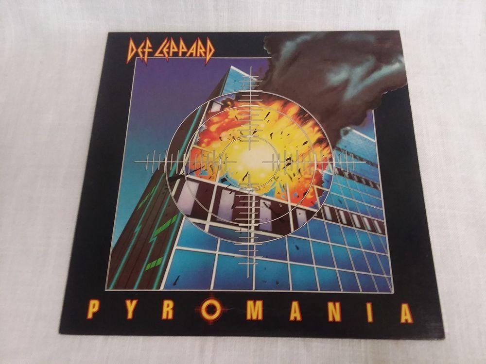 Def Leopard Pyromania Lp Vinyl Vg Ex Hardrock Def Leppard Def Leppard Pyromania Vinyl Records For Sale