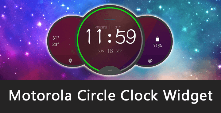 Motorola Circle Clock Widget APK for Android [Download] [No