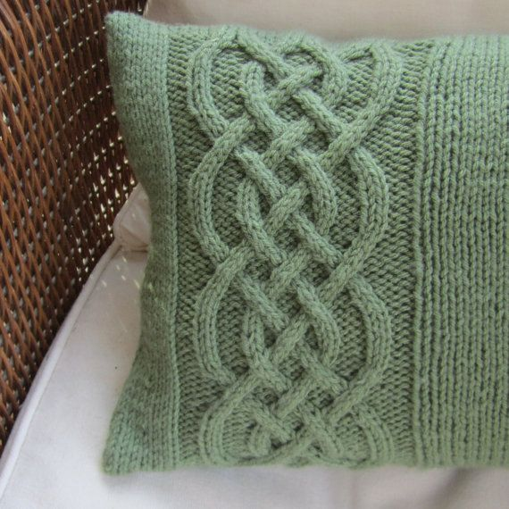 Knit Pattern Pdf Celtic Knot Cable Knit Pillow Cover In 4 Sizes