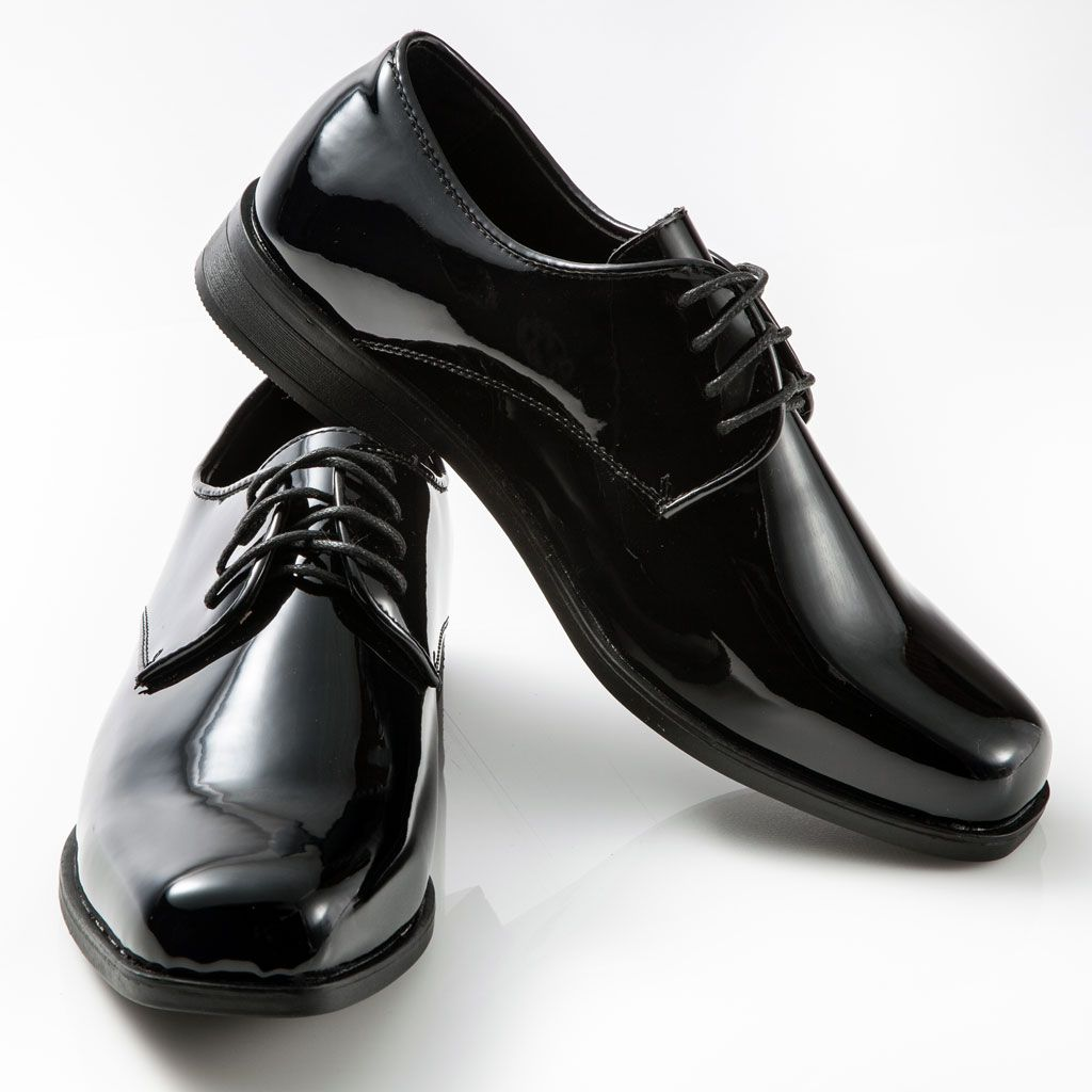 Men's Classic Black Patent Leather