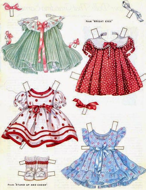 Soloillustratori: poupées de papier Shirley Temple