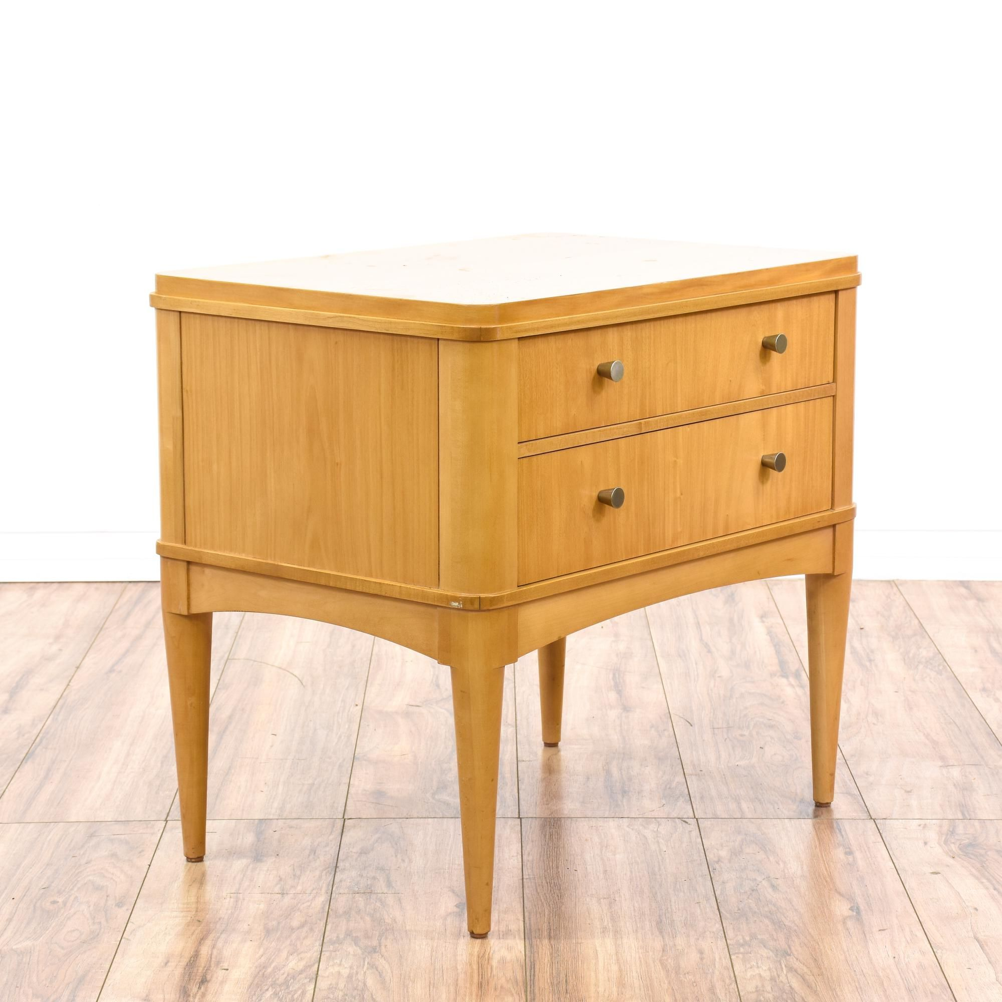 This Ethan Allen Radius Nightstand Is Featured In A Solid