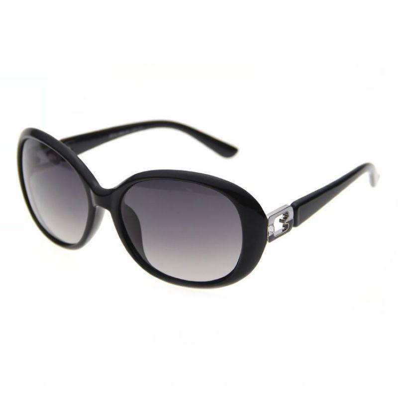 875dd32c5370 Polarized Oval Fashion Sunglasses Womens Classic Black Frame ...