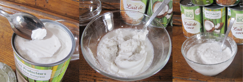 Pousse rapide des cheveux et lait coco