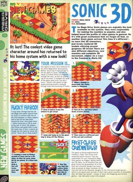 File:CVG UK 177 pdf | Sonic 3D Blast | Sonic the hedgehog