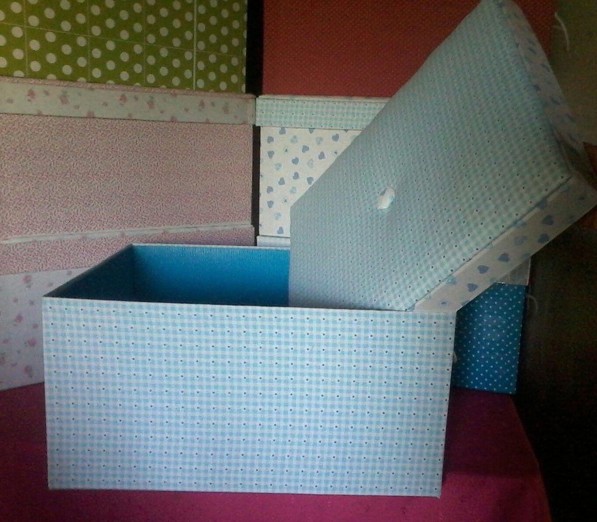 Resultado de imagen para cajas forradas en tela retro - Manualidades con cajas de zapatos ...