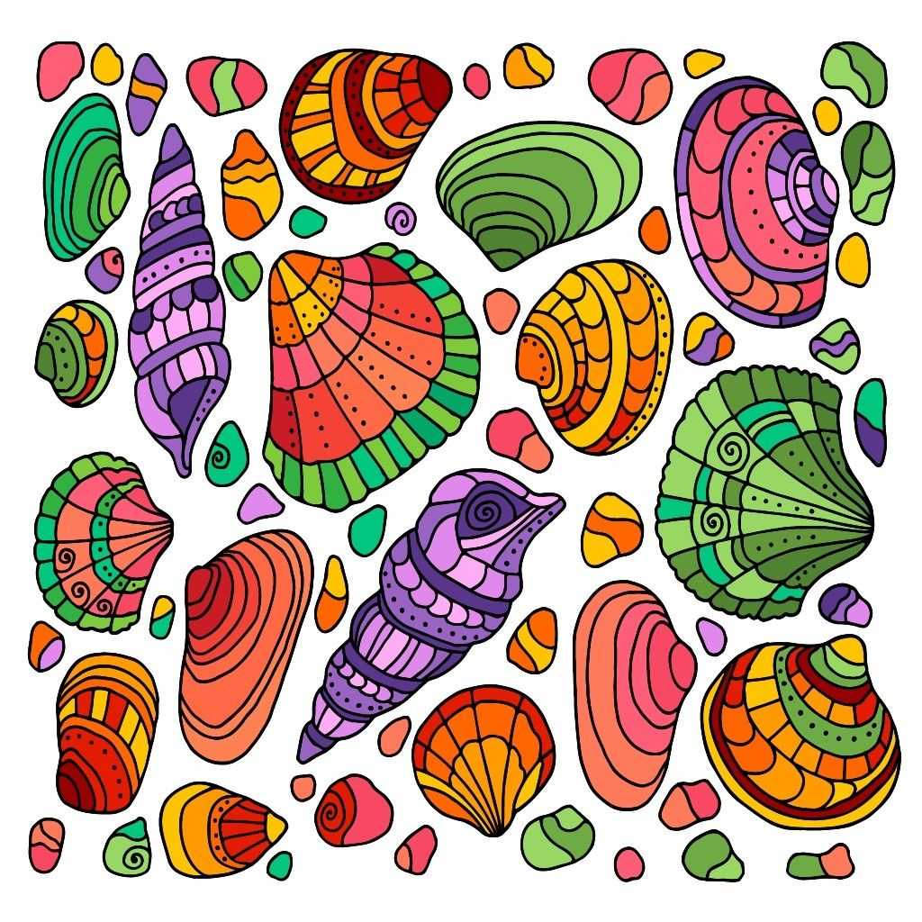 - Shellfish Happy Colors, Online Painting, Coloring Apps