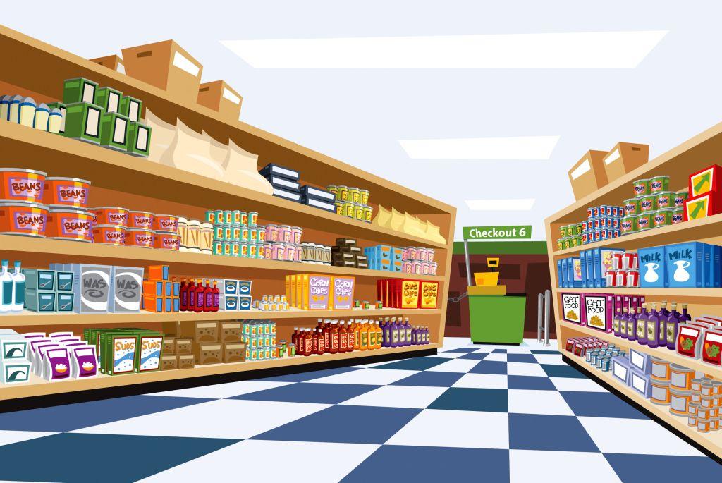 Image Result For Cartoon Supermarket Aisle Supermarket Shop Front Design Design