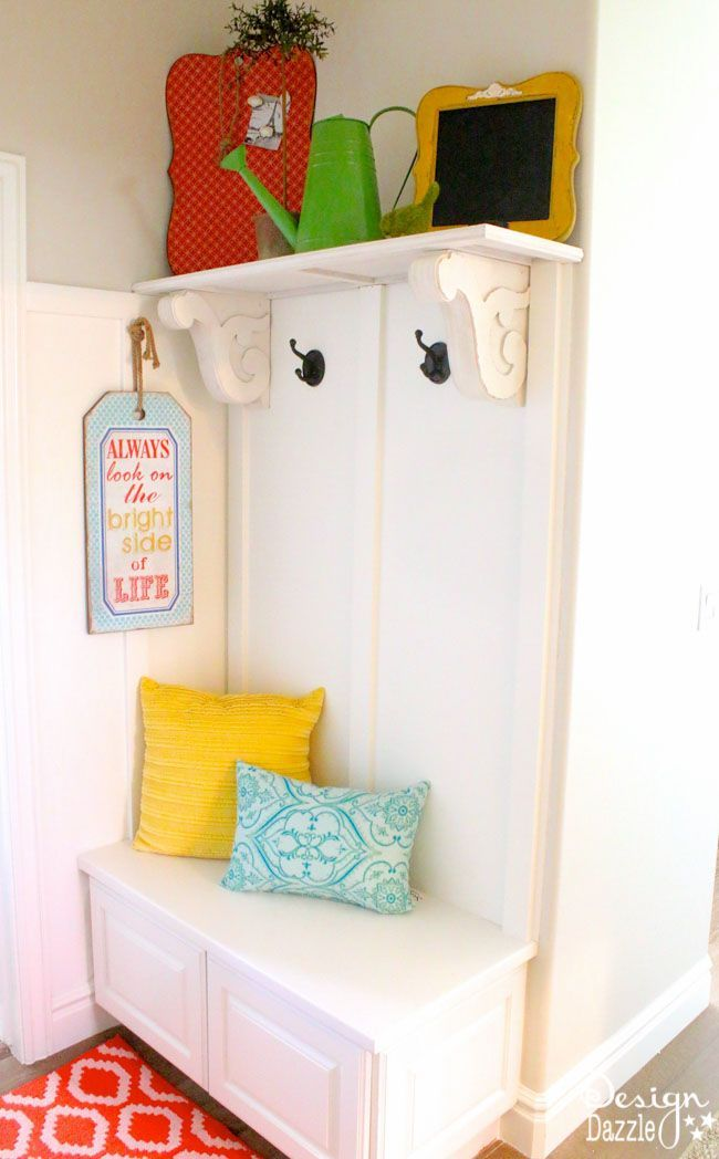 Best Diy Crafts Ideas For Your Home DIY Mini Mudroom Nook. Step-by ...