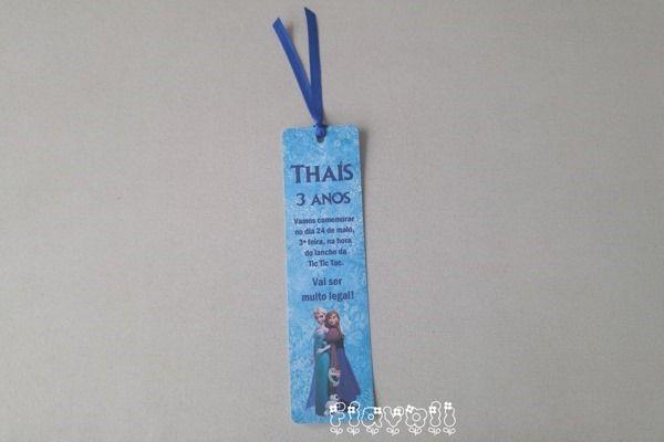 Convite Frozen tipo marcador de livros  :: flavoli.net - Papelaria Personalizada :: Contato: (21) 98-836-0113 vendas@flavoli.net