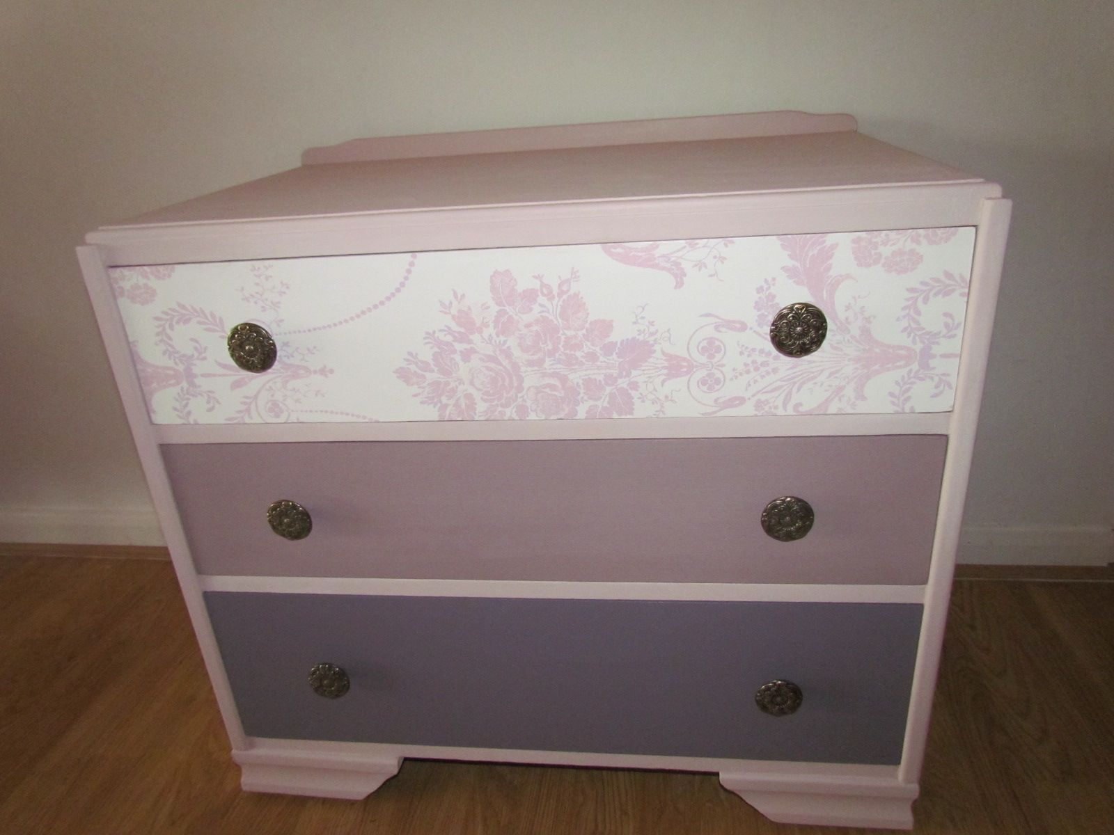 Chest of drawers painted in Autentico Rose, Mauve Faux and Amethyst ...