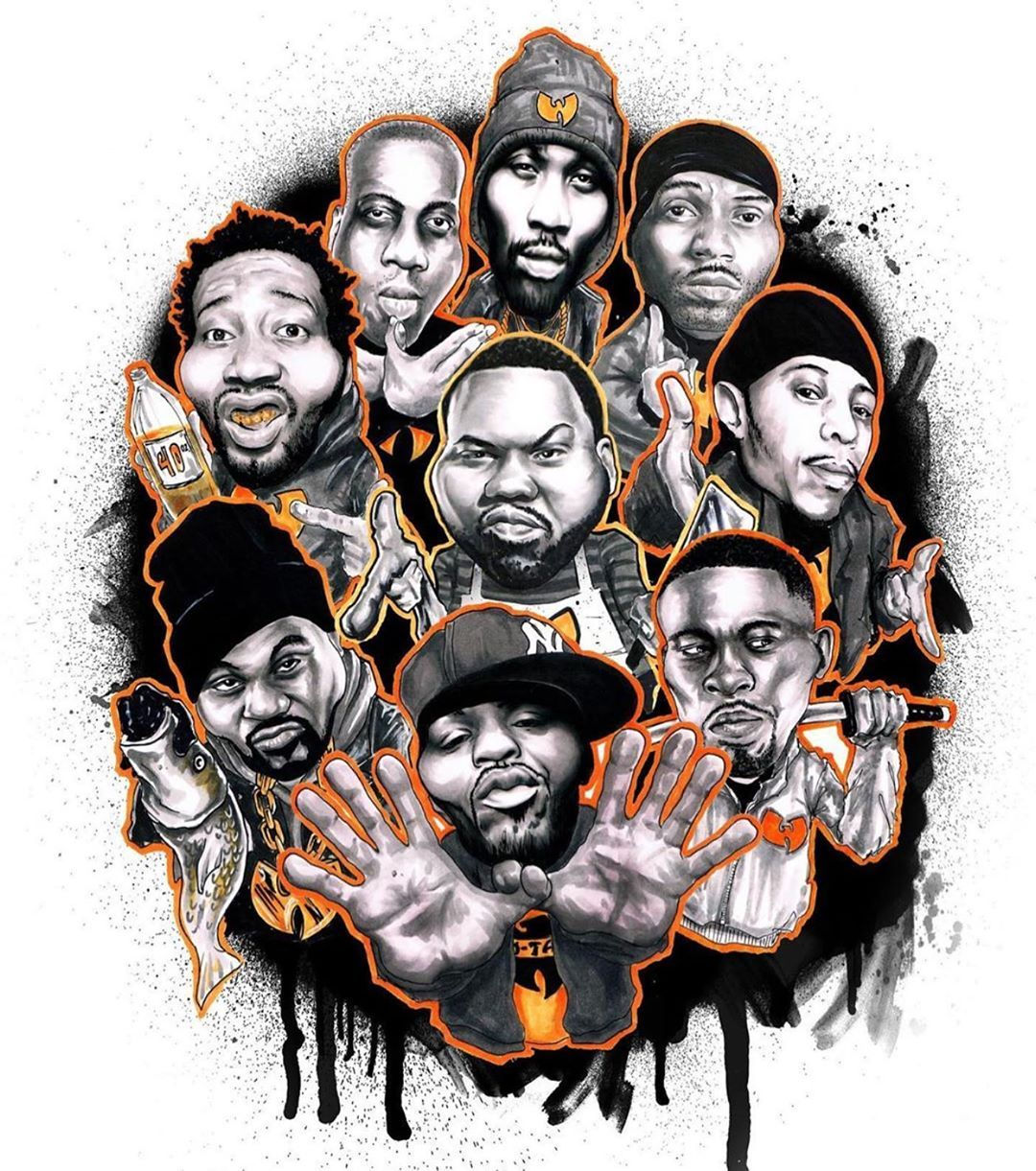Wu Tang Clan On Instagram Masters Wutang Hip Hop Artwork Hip Hop Art Tupac Art [ 1221 x 1080 Pixel ]