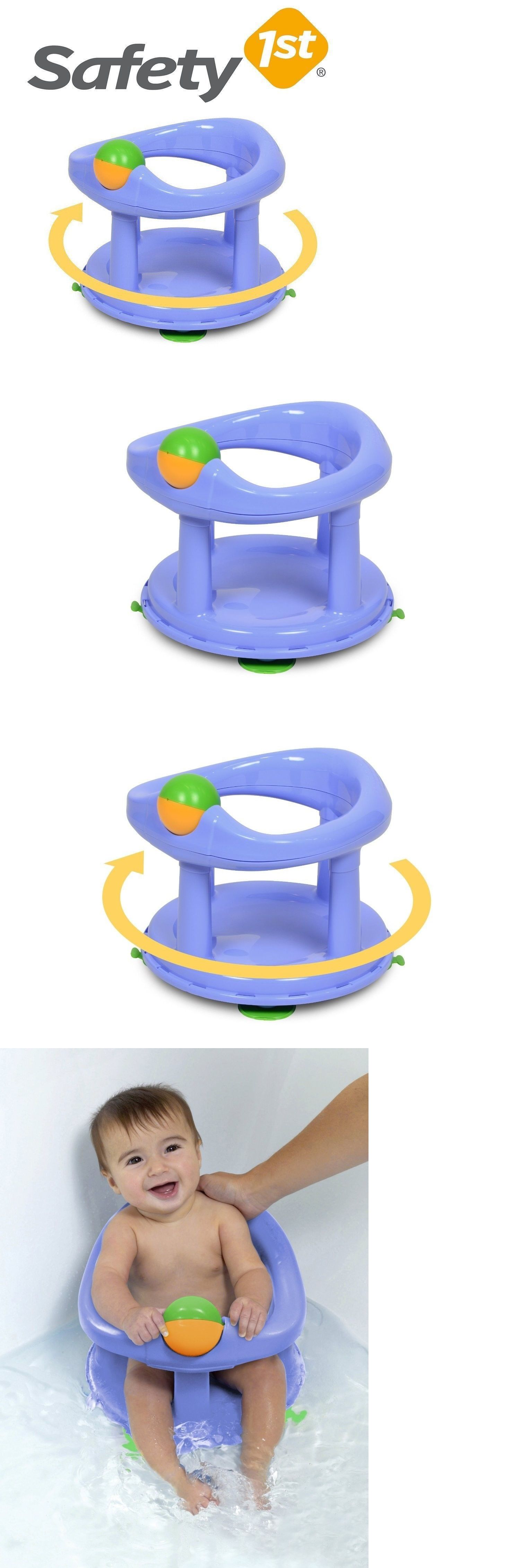 Baby Bath Tub Seat With Ring Toy Infant Newborn Chair Safety 1st ...