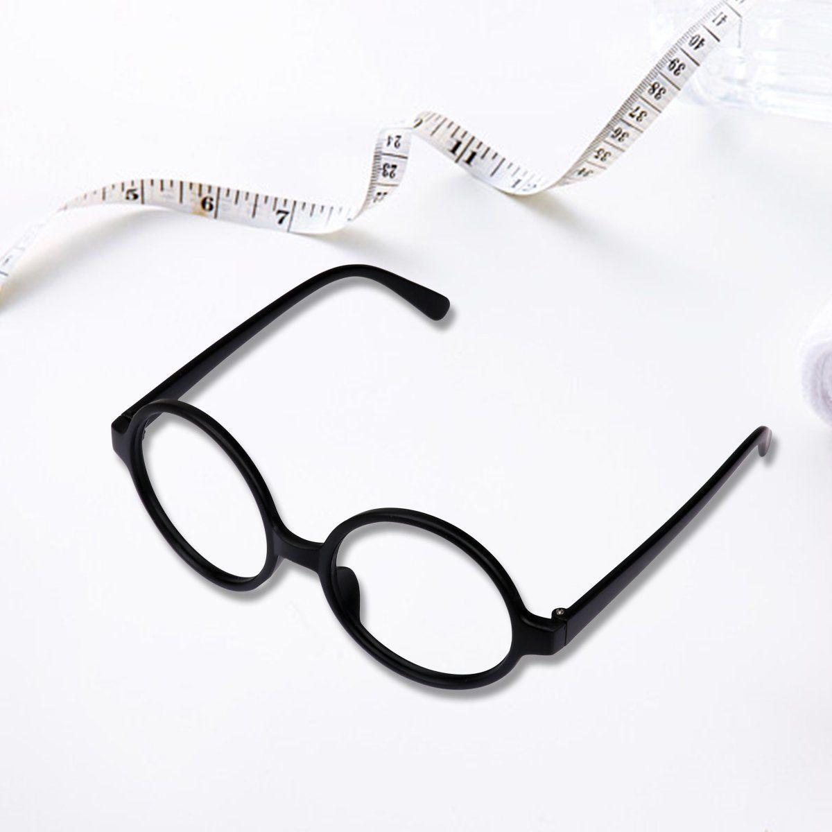 820f01d34b Kicosy 10 Pieces Glasses Frame Black Children Retro Round Glasses Frame Kids  Plastic Wizard Glasses Frame No Lenses for Boy or Girls Dress Up and  Pretend ...