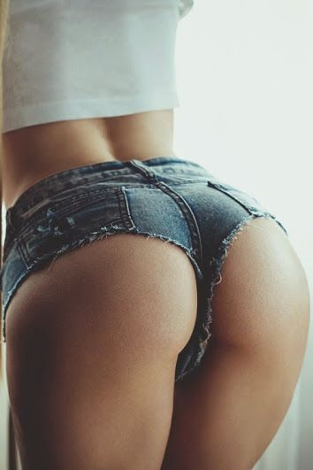 Hot ass in jean shorts