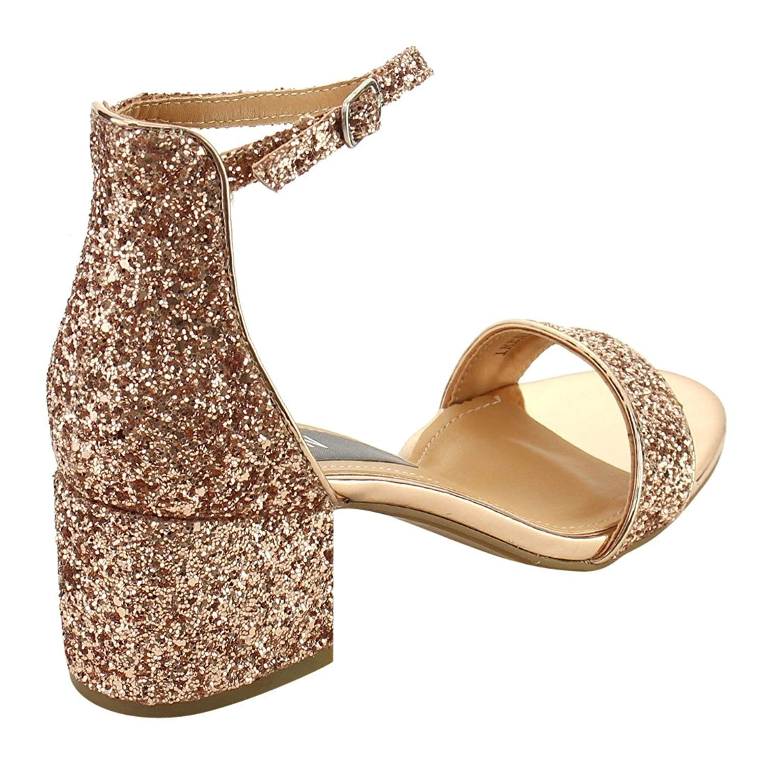 be87893ce89 Beston FH76 Women Single Band Ankle Strap Chunky Heel Dress Sandal Half  Size Big    Check this awesome product by going to the link at the image.