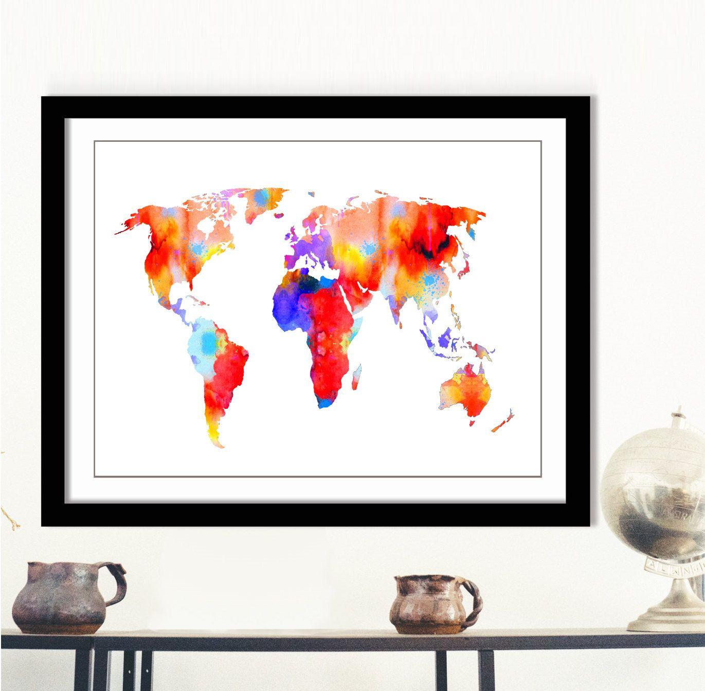 Pastel world map print printable world map digital world map art pastel world map print printable world map digital world map art multicolor gumiabroncs Images