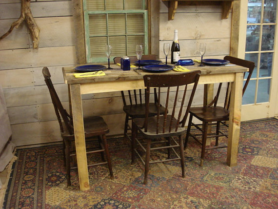 Farmhouse Counter Height Table 60 X 24 36H By DriftwoodTreasures