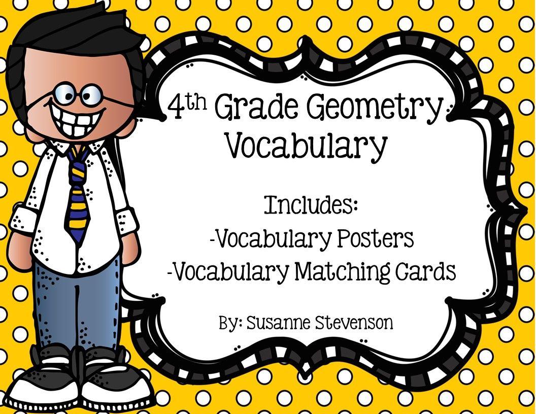 4th Grade Geometry Vocabulary